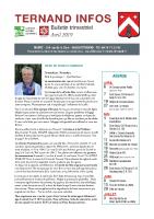 Bulletin avril 2019