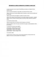 RÉUNION DU CONSEIL MUNICIPAL DE MARDI 26 MAI 2020