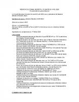 REUNION DU CONSEIL MUNICIPAL DU MARDI 28 AVRIL 2020