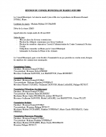 RÉUNION DU CONSEIL MUNICIPAL DU MARDI 2 JUIN 2020