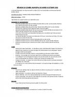 2020_10 RÉUNION DU CONSEIL MUNICIPAL DU MARDI 6 OCTOBRE 2020