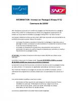 Information Département SNCF