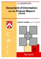 DICRIM Document d'Information sur les Risques Majeurs Ternand