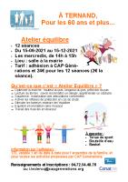 Affiche ateliers séniors TERNAND 2021